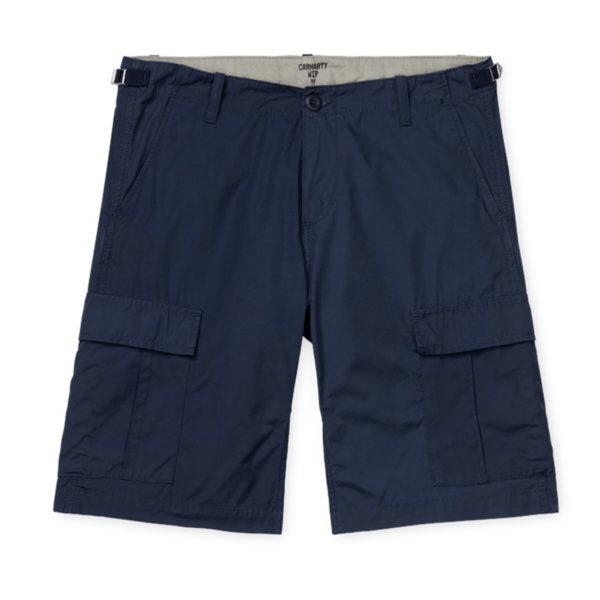 Carhartt Aviation Shorts 100% Cotton Dark Navy Rinsed