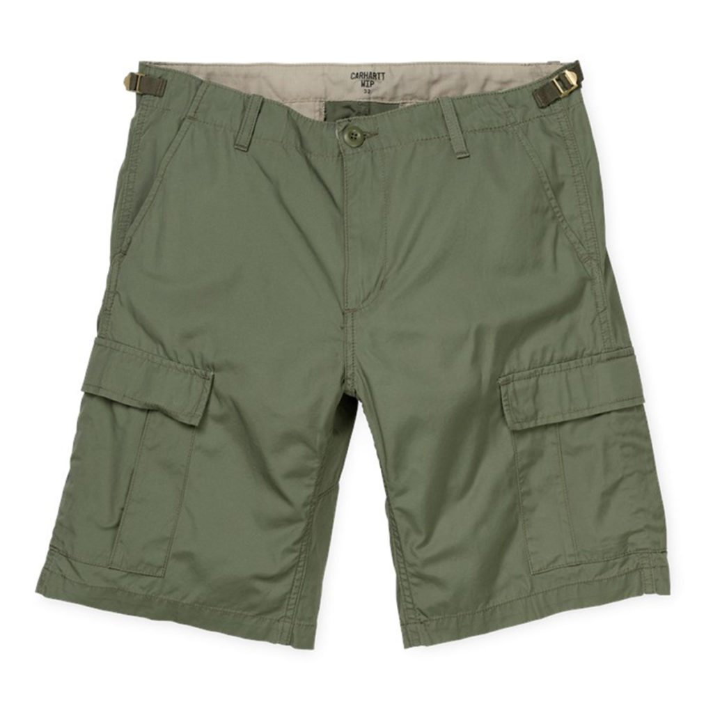 Carhartt Aviation Shorts 100% Cotton Dollar Green Rinsed