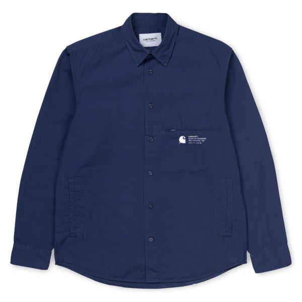 Carhartt Coleman Shirt Metro Blue / Wax