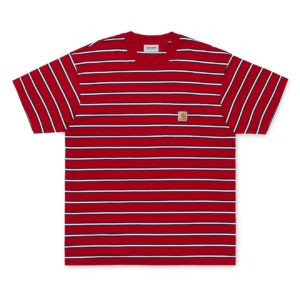 Carhartt Houston Pocket T-Shirt Houston Stripe / Cardinal