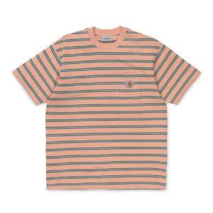Carhartt Houston Pocket T-Shirt Houston Stripe / Peach