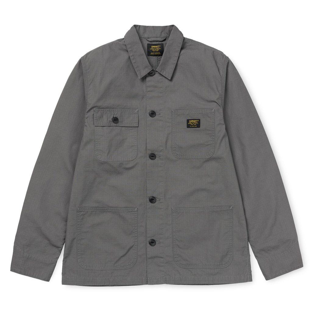 Carhartt Michigan Shirt Jacket Air Force Grey Rinsed