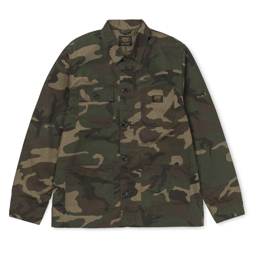 Carhartt Michigan Shirt Jacket Camo Laurel Rinsed