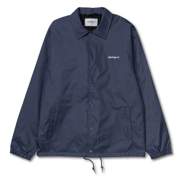Carhartt Script Coach Jacket Blue Wax