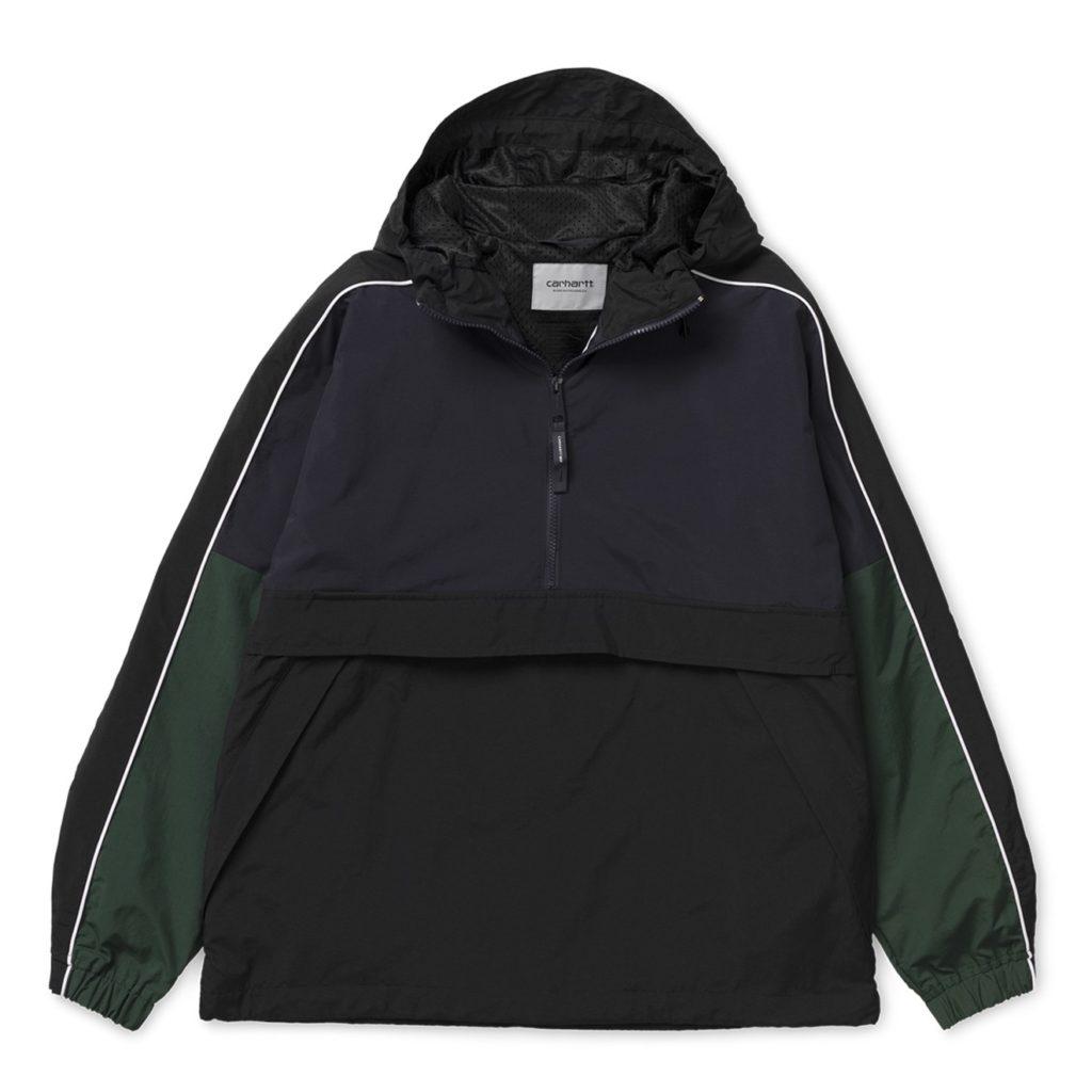Carhartt Terrace Pullover Jacket Dark Navy / Black / Bottle Green