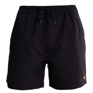 Chase Swim Trunks 100% Polyester Black / Gold