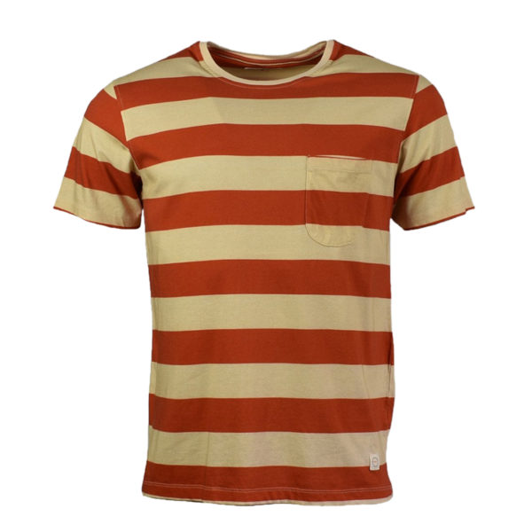 Far Afield Bold Stripe T-Shirt Red / White