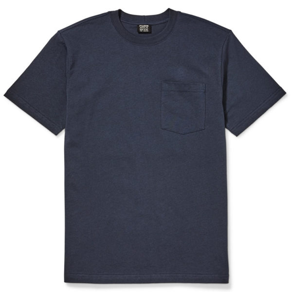 Filson Outfitter Solid One Pocket T-Shirt Dark Navy