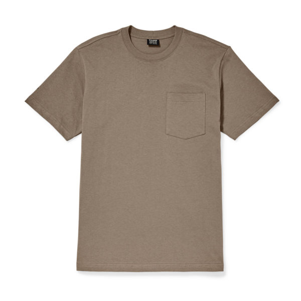 Filson Outfitter Solid One Pocket T-Shirt Dark Mushroom