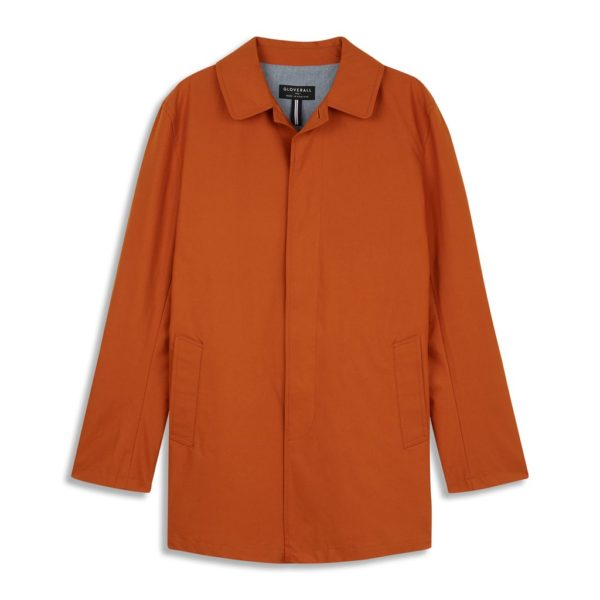 Gloverall James Car Coat Ginger