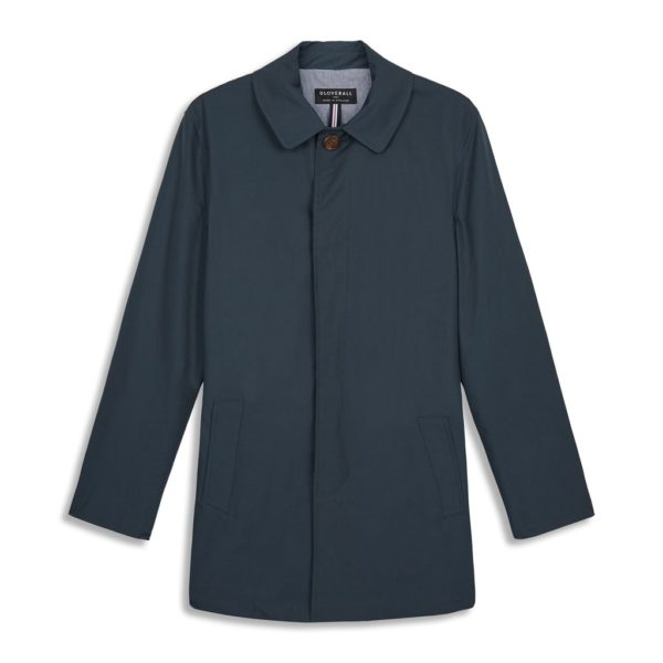 Gloverall James Car Coat Navy