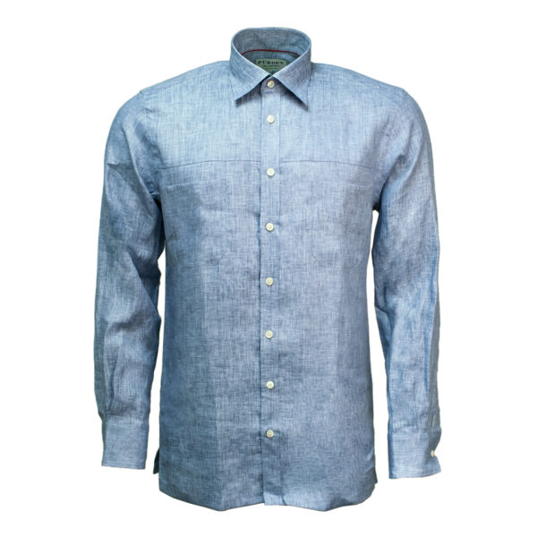 James Purdey Linen Shirt Blue