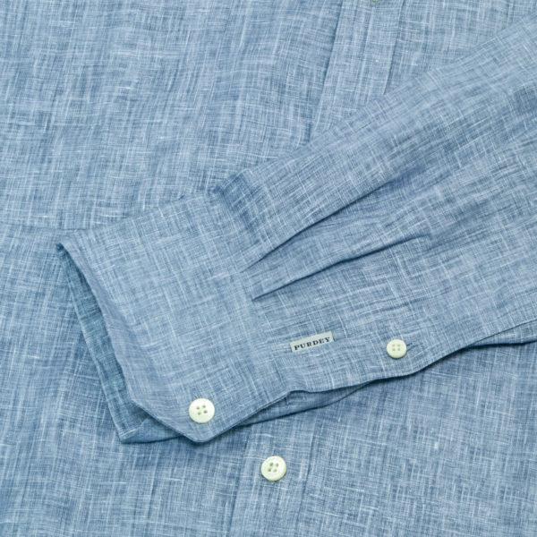 James Purdey Linen Shirt Blue