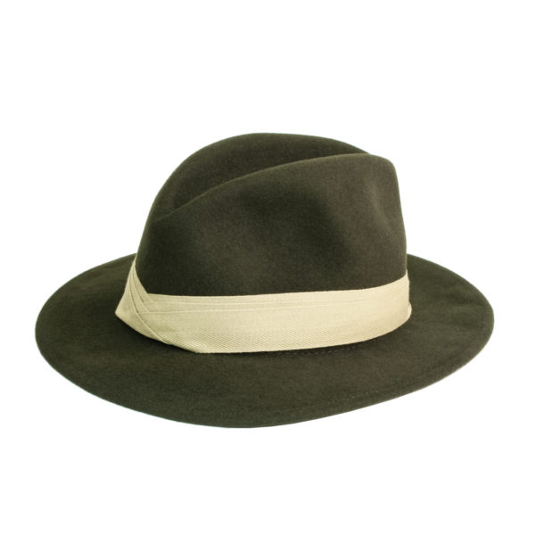 James Purdey Traveller Hat Khaki Green