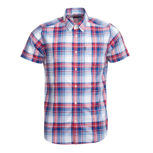 Barbour Madras 3 Tailored Shirt Red