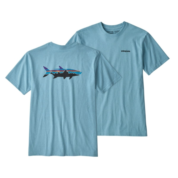 Patagonia Fitz Roy Tarpon Responsibili-Tee Break Up Blue