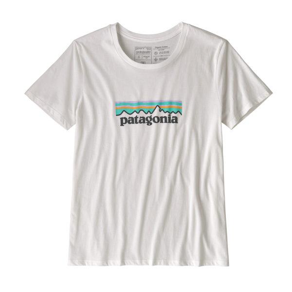 Patagonia Womens Pastel P-6 Logo Organic Crew T-Shirt White