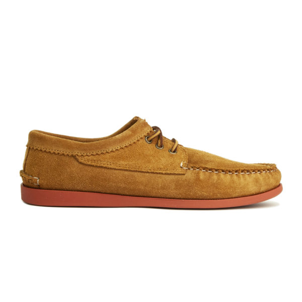 Quoddy Blucher Shoe Toast Suede / Brick Sole
