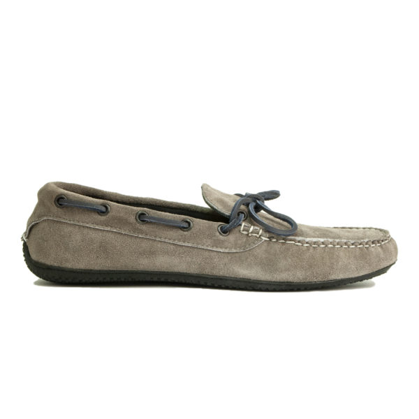 Quoddy Camp Driver Shoe Grey Suede