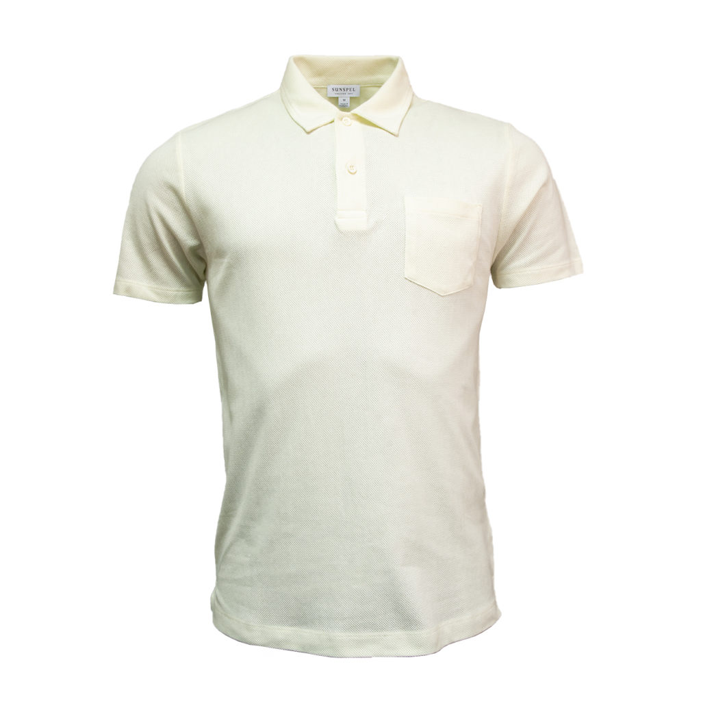 Sunspel Riviera S/S Polo Shirt Archive White