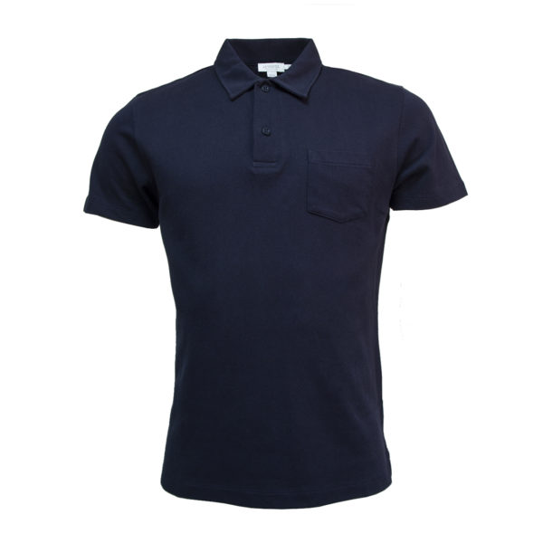 Sunspel Riviera S/S Polo Shirt Navy