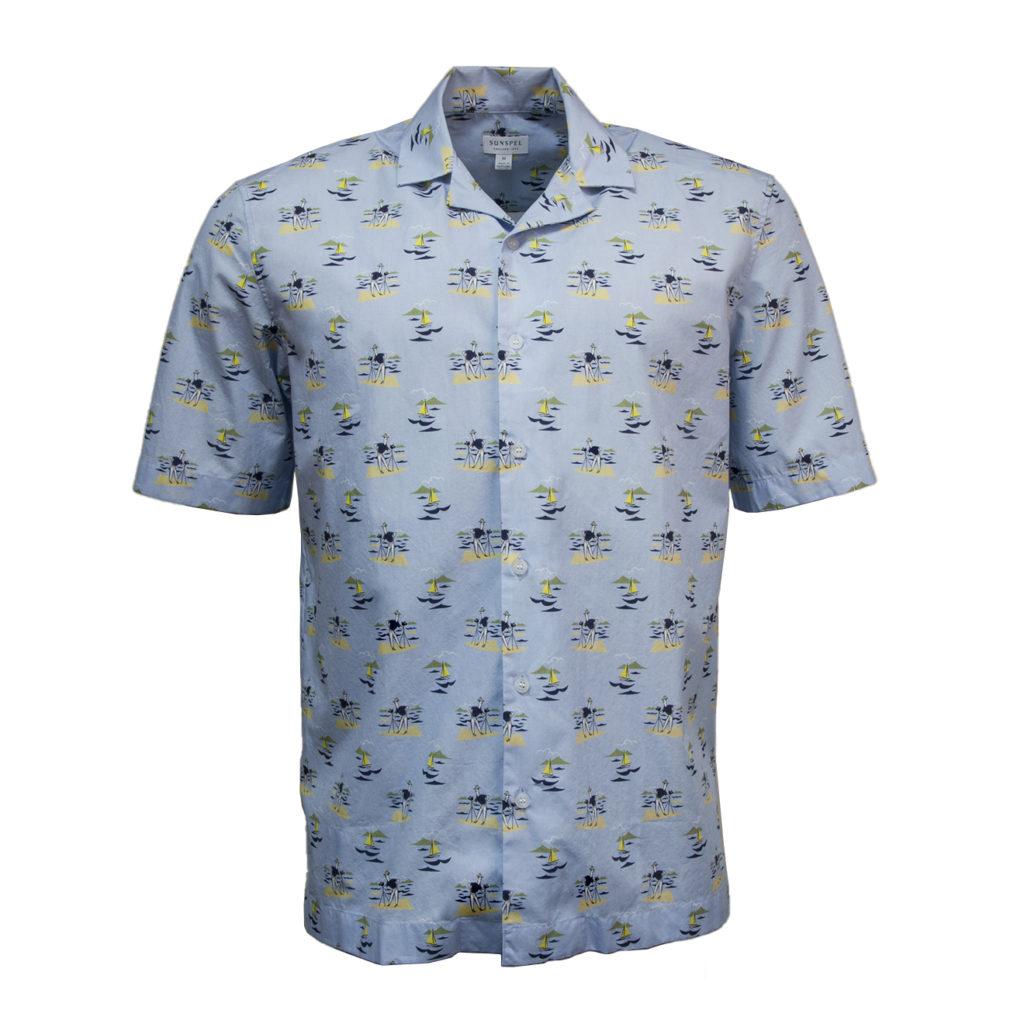 Sunspel SS Shirt Sormichi Camera Man Print