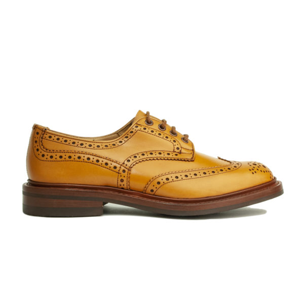 Trickers Bourton Brogue Derby Shoe Acorn Antique