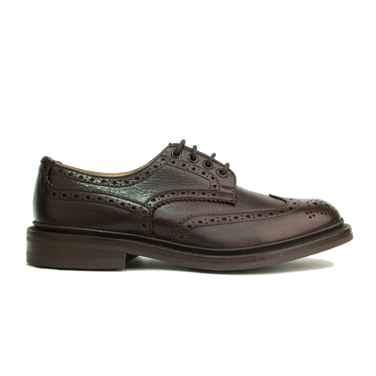 Trickers Bourton Brogue Derby Shoe Polo Kudu Brown The Sporting Lodge