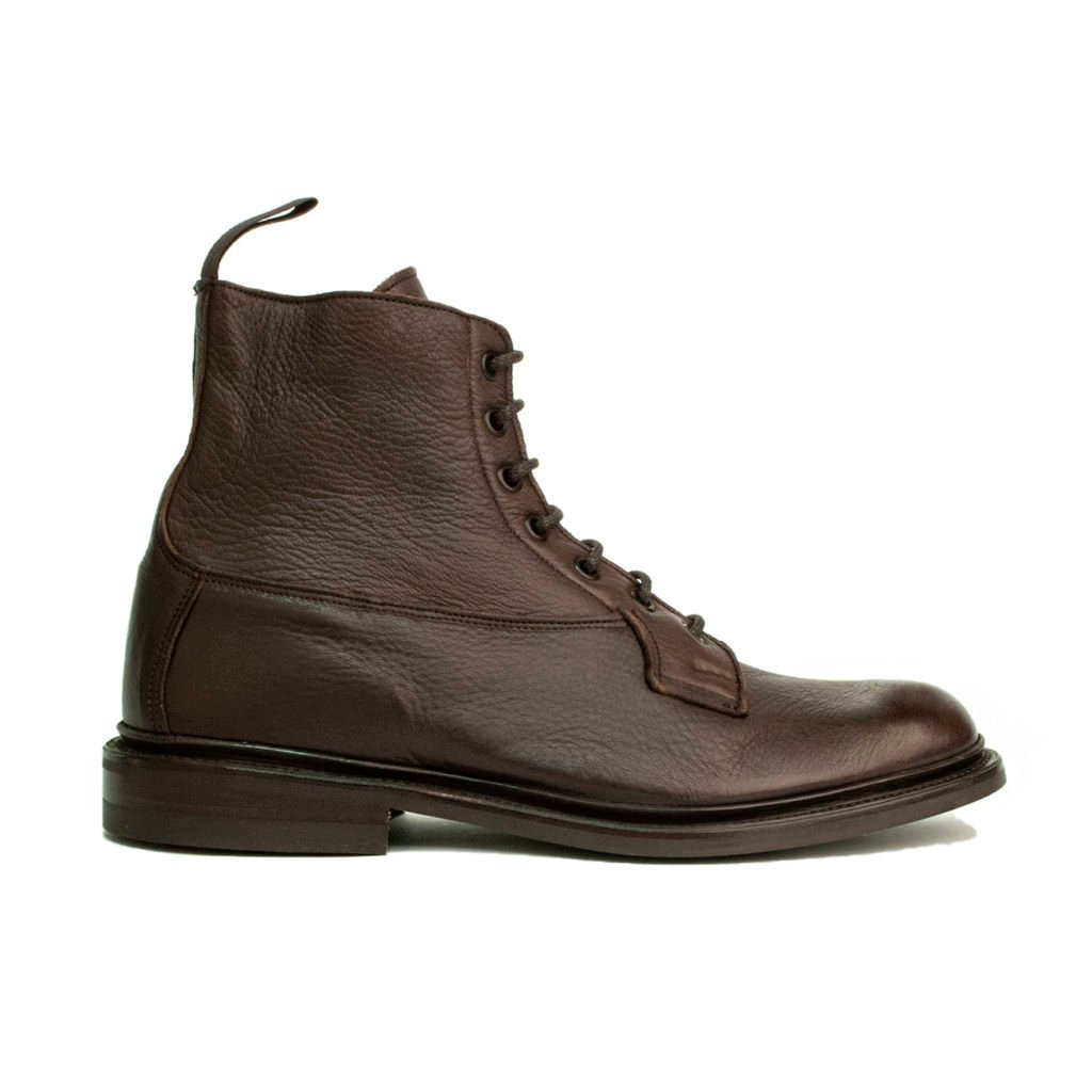 Trickers Burford Boot Dark Brown Olivia Deerskin