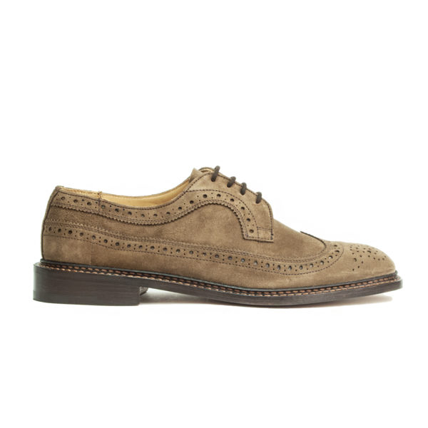 Trickers Richard Suede Brogue Brown Castorino