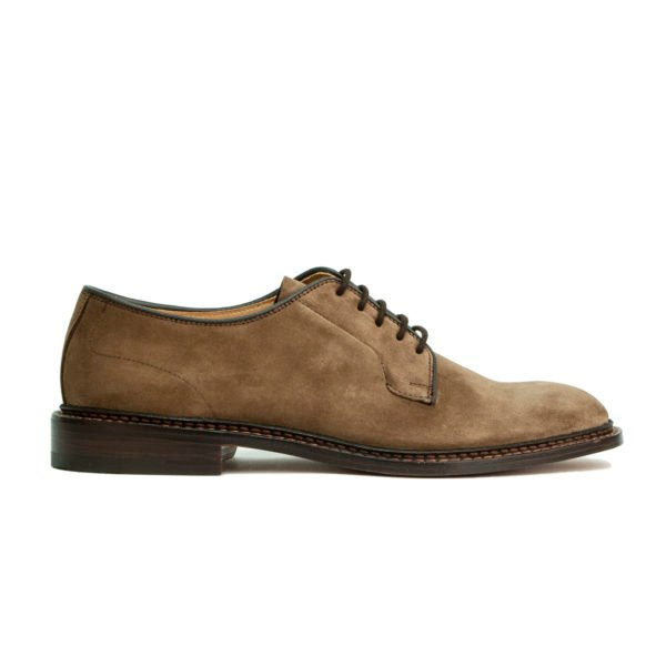 Trickers Robert Suede Derby Shoe Brown Castorino