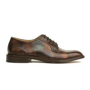 Trickers Robert Suede Derby Shoe Dark Brown Museum