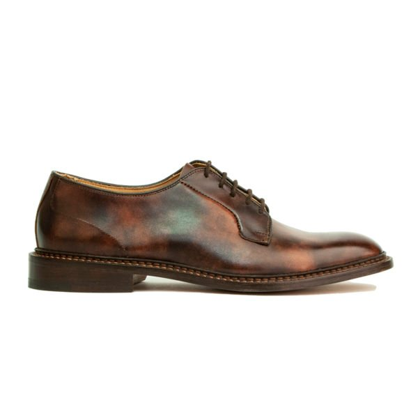 Trickers Robert Suede Derby Shoe Dark Brown Museum