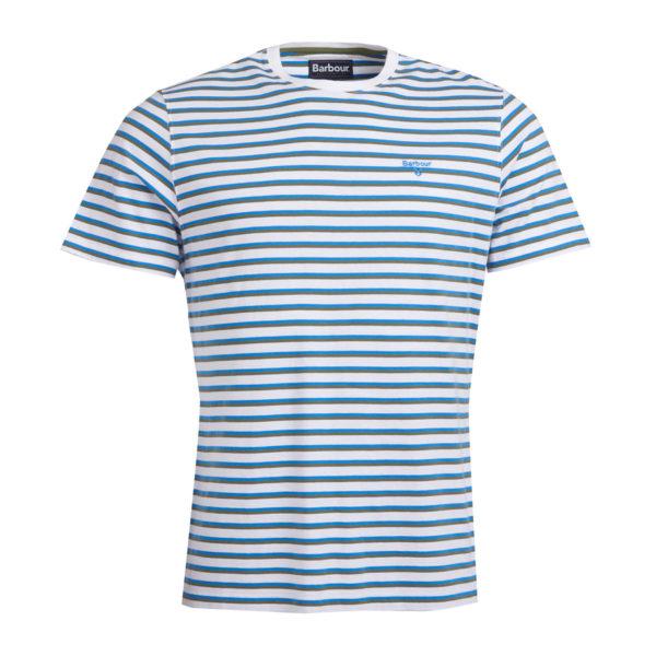 Barbour Crane Stripe T-Shirt Delft Blue