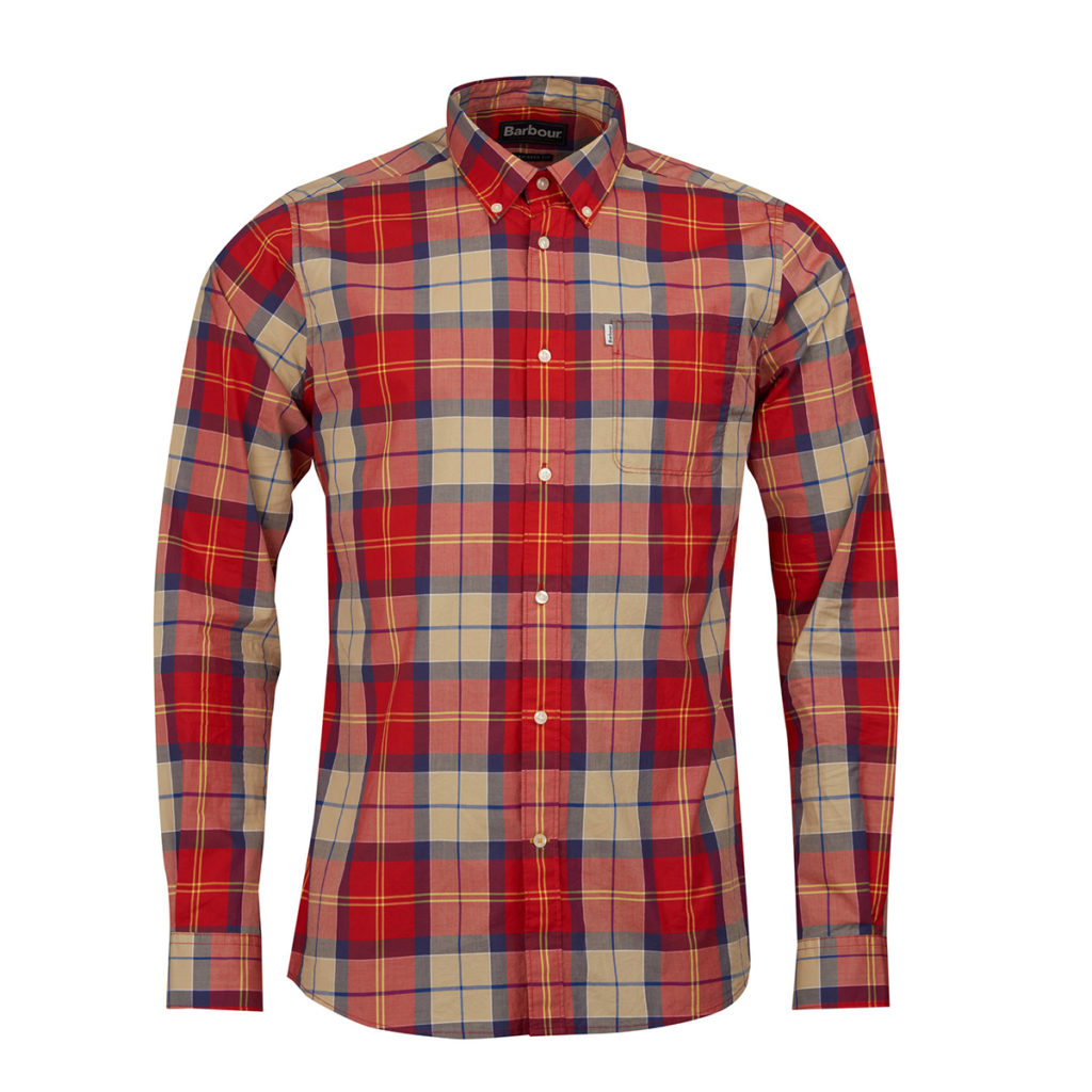 Barbour Toward L/S Shirt Red