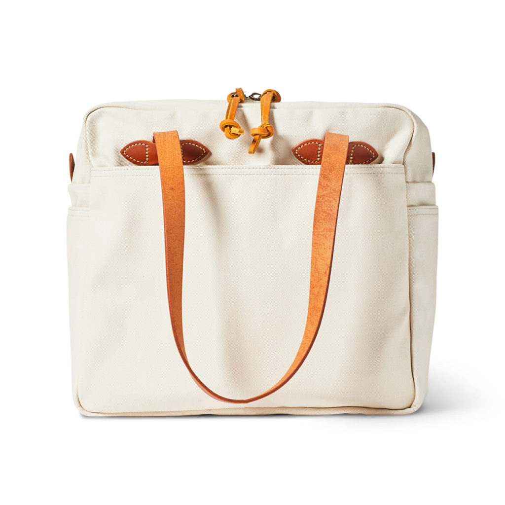 Filson Tote Bag With Zipper Natural