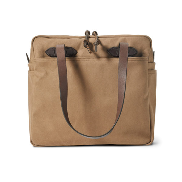 Filson Tote Bag With Zipper Sepia