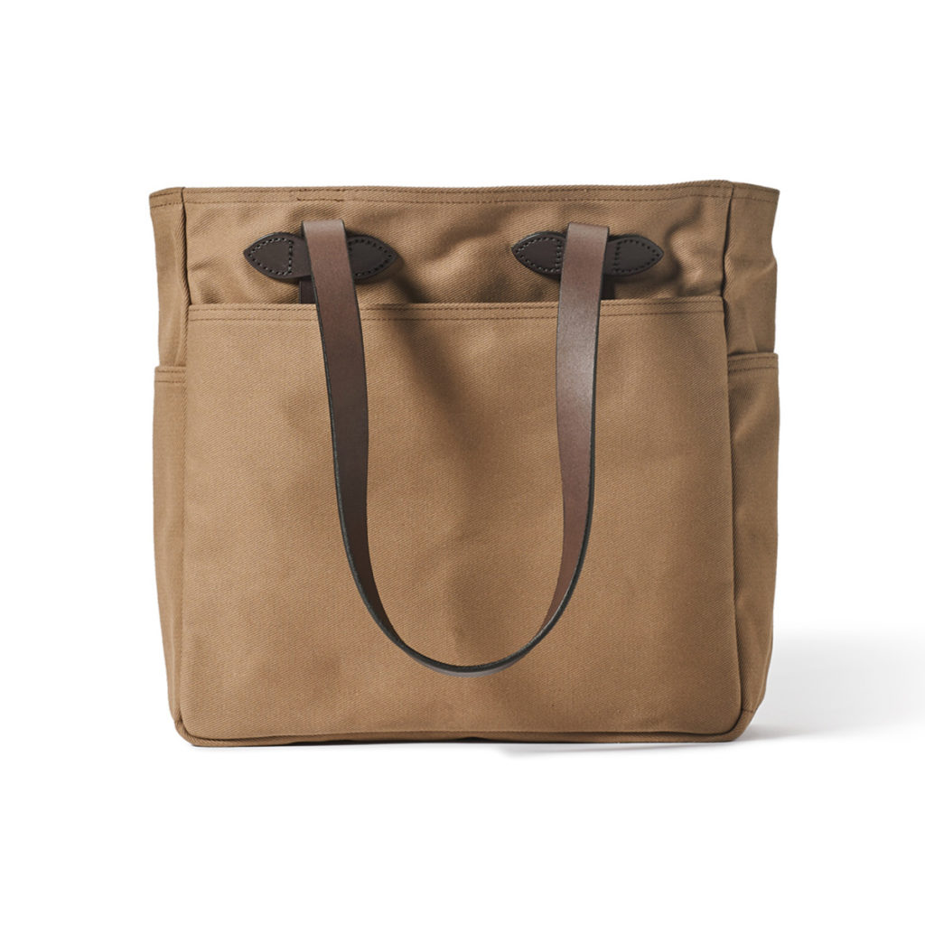 Filson Tote Bag Without Zipper Sepia