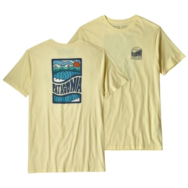 Patagonia Cosmic Peaks Organic T-Shirt Resin Yellow