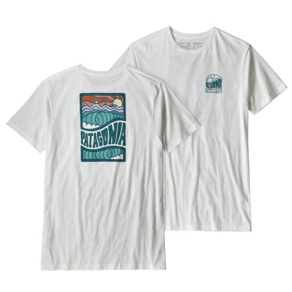 Patagonia Cosmic Peaks Organic T-Shirt White