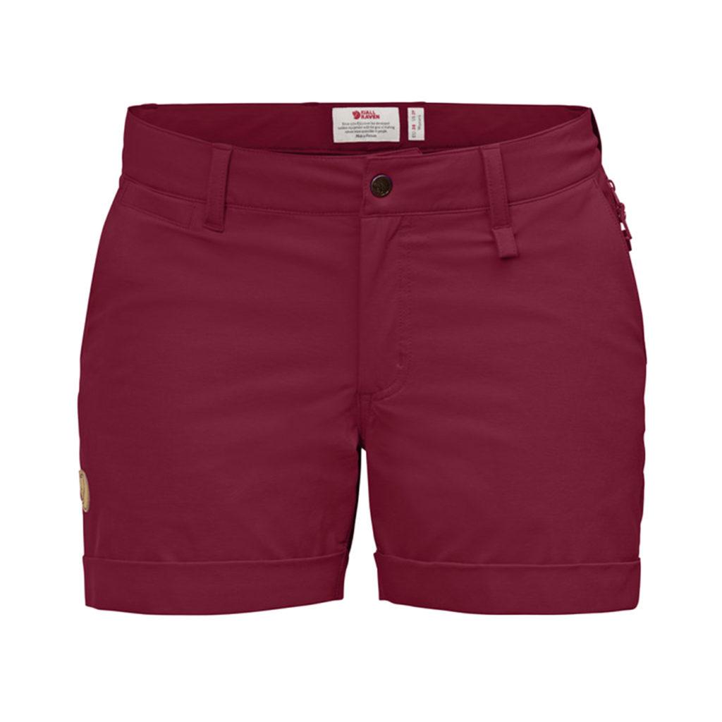 Fjallraven Womens Abisko Stretch Shorts Plum