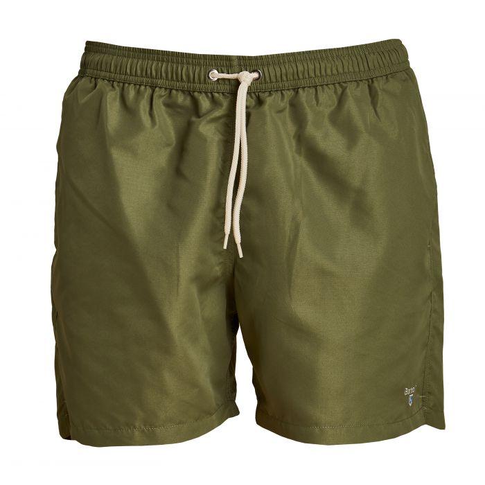 "Barbour Logo 5"" Swim Shorts Olive"