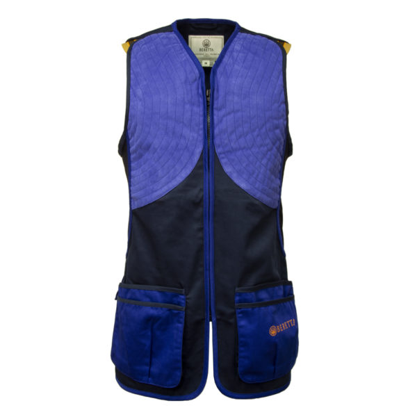 Beretta DT11 Microsuede Slide Shooting Vest Blue Navy