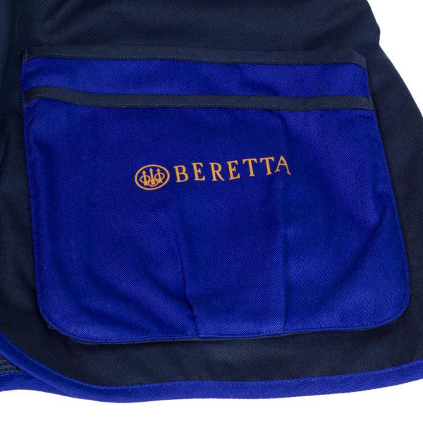 Beretta DT11 Microsuede Slide Shooting Vest Blue Navy
