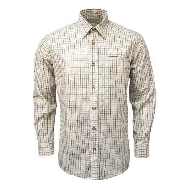 Beretta LS Trail Shirt Light Beige Check