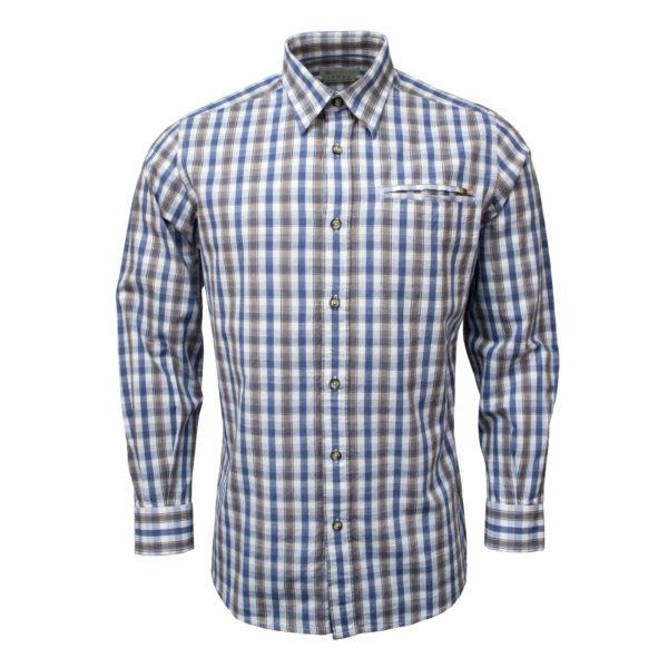 Beretta LS Trail Shirt White / Light Blue Check