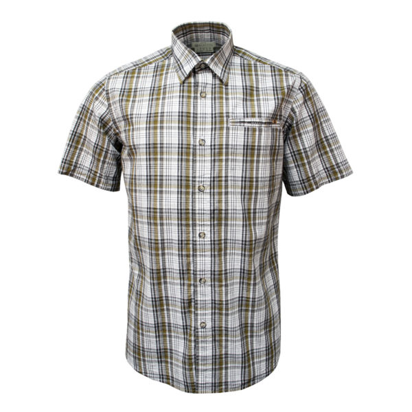 Beretta Short Sleeve Trail Shirt White / Black / Brown Check