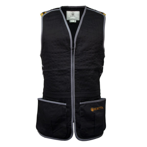 Beretta Trap Cotton Shooting Vest Black / Grey