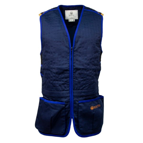Beretta Trap Cotton Shooting Vest Blue Navy