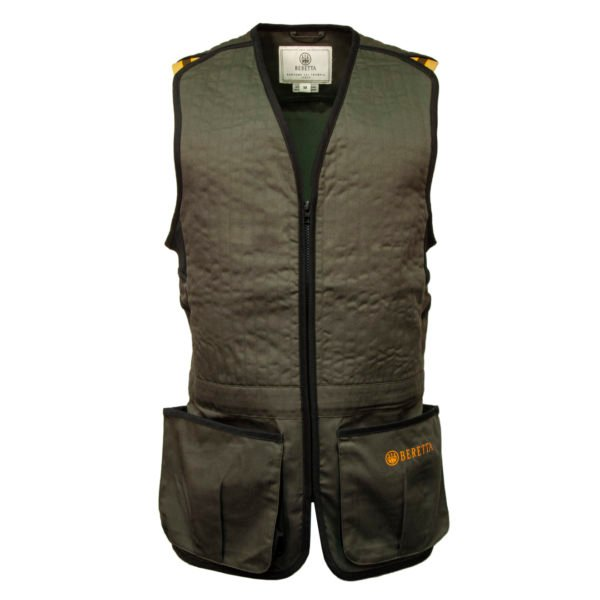 Beretta Trap Cotton Shooting Vest Green / Black